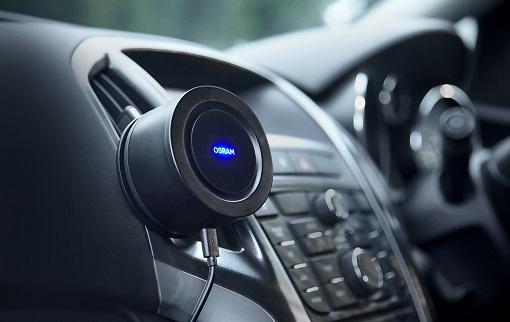 un purificateur d'air portable pour voiture signé Osram
