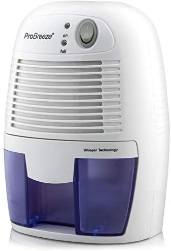Pro Breeze® Mini Déshumidificateur d'Air Compact 500 ml pour l'Humidité et les Moisissures à la Maison, pour Cuisine, Chambre, Caravane, Bureau, Garage