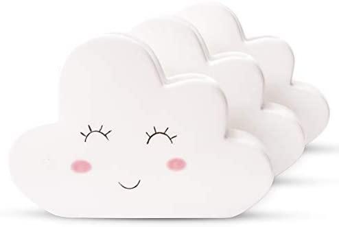 Ligano Radiateur Humidificateur d'air Nuages - Céramique Humidificateur pour Chauffage Chambre d'enfant - Lot de 3