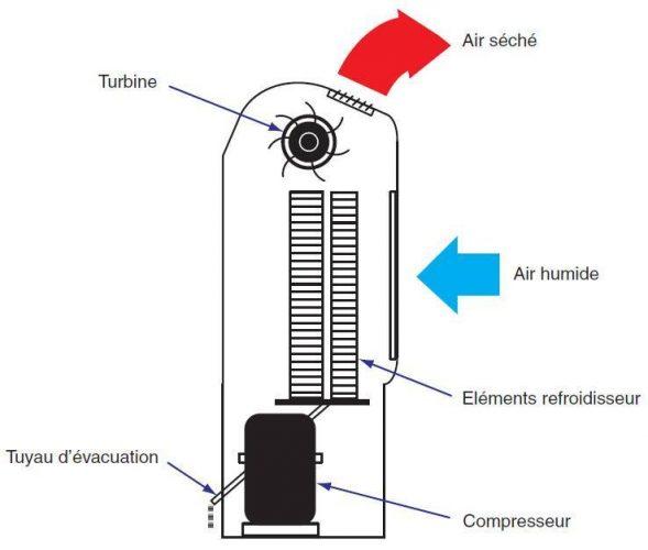 Comment fonctionne un déshumidificateur d'air ?