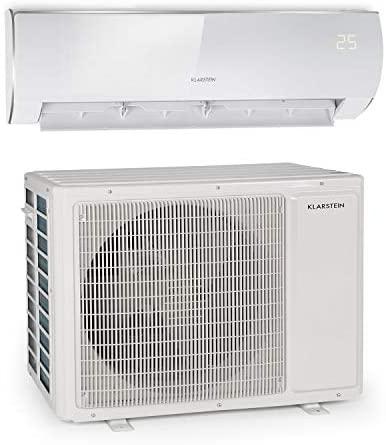KLARSTEIN Windwaker Eco - Climatiseur Split, 18 000 BTU/h (5274W), 800m³/h, Chauffage et Refroidisseur, A++/A+, 5 Modes, 3 Modes Veille, écran LED, Télécommande - Blanc