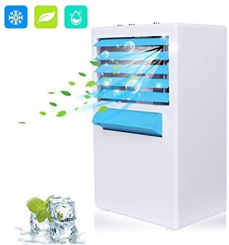 Refroidisseur d'air Portable Ventilateur Climatiseur Mobile 3 en 1 Mini Climatiseur Refroidisseur d'air personnel Humidificateur Purificateur pour Maison/Bureau