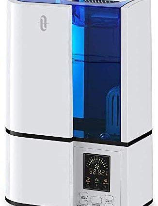 TaoTronics Humidificateur d'Air Maison Bébé 4L, Humidificateur Bébé avec 3 Niveaux de Brume, Minuterie de 1 à 24h, Humidificateur d'Air Chambre jusqu'à 30 m²